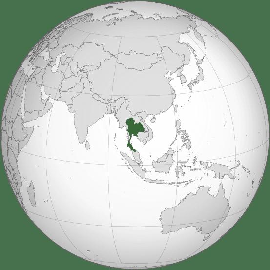 Letak negara Thailand