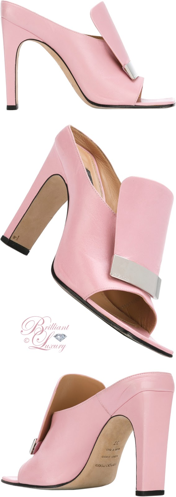 Brilliant Luxury ♦ Sergio Rossi Sr1 Open Toe Mules