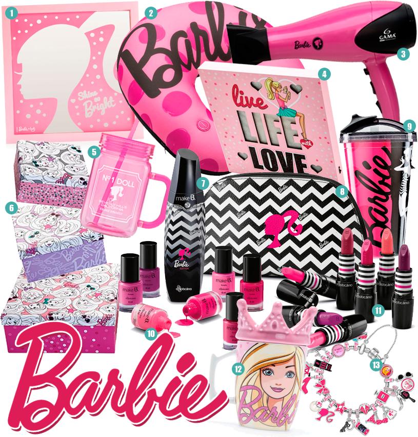 Itens Barbie Ludi O'Boticário Gama Monte Carlo Jóias Jolie