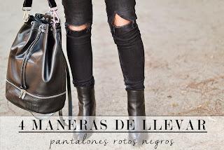 4 maneras de llevar pantalones rotos negros