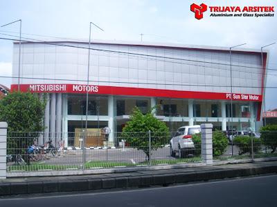 Aluminium Composite Panel, Letter Acrylic, Pintu Kaca Frameles, Spyder System, Trijaya Aluminium, Proyek Surabaya