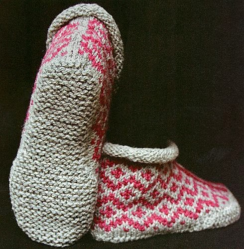 http://www.ravelry.com/patterns/library/garter-sole-slippers
