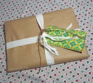 Scrap Fabric Gift Tags