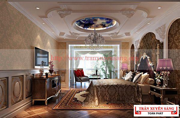 Mẫu trần nhà phòng khách 3