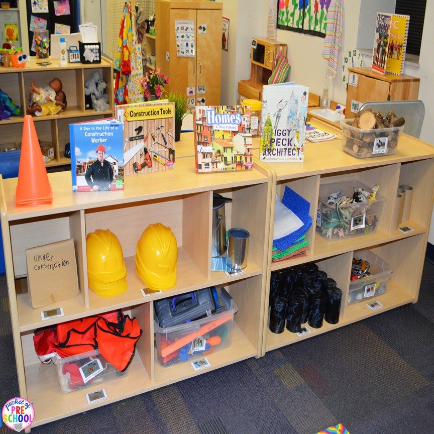 Classroom Center Ideas ~ How to set up the blocks center in an early childhood