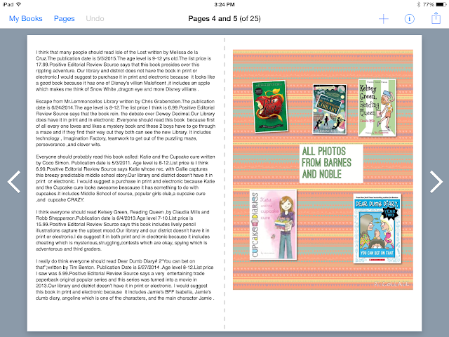 Student Created Summer Reading Book Creator