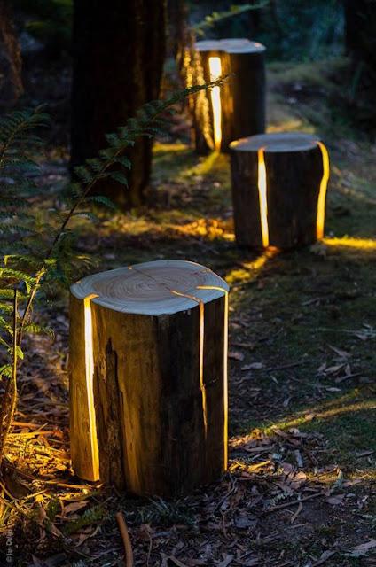 Reciclando Madera para convertirla en una bonita lampara decorativa Led