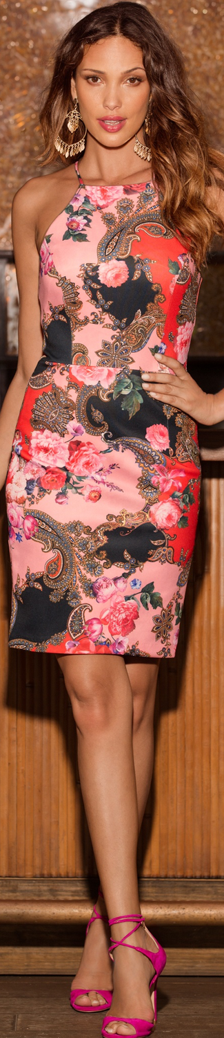Boston Proper Paisley Rose Sheath Dress