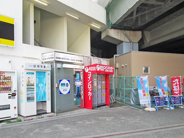 西友浦安店 入口付近のフジコインロッカー