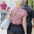 Amber Rose shows of her famous bum while wearing transparent leggings(photo)