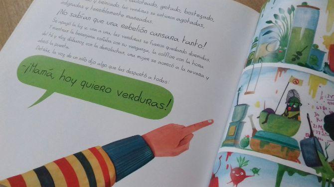 Libros para niños - La rebelión de las verduras