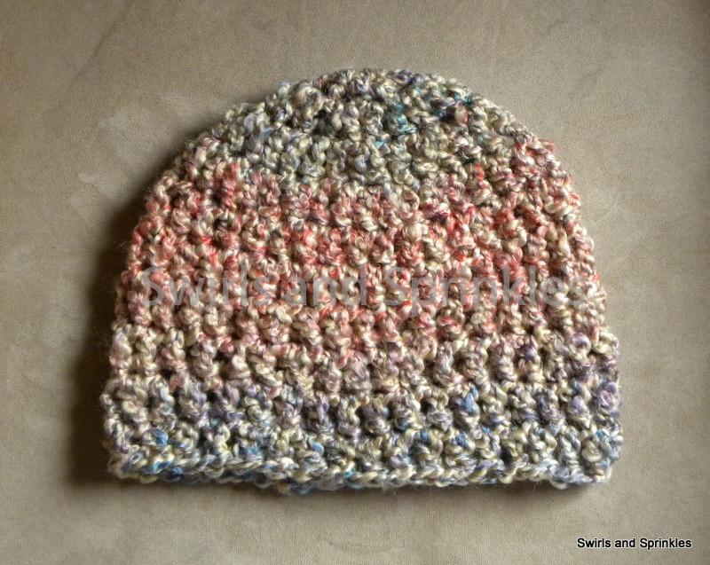 Swirls and Sprinkles  Free crochet adult bulky hat pattern e7fba0d97b8