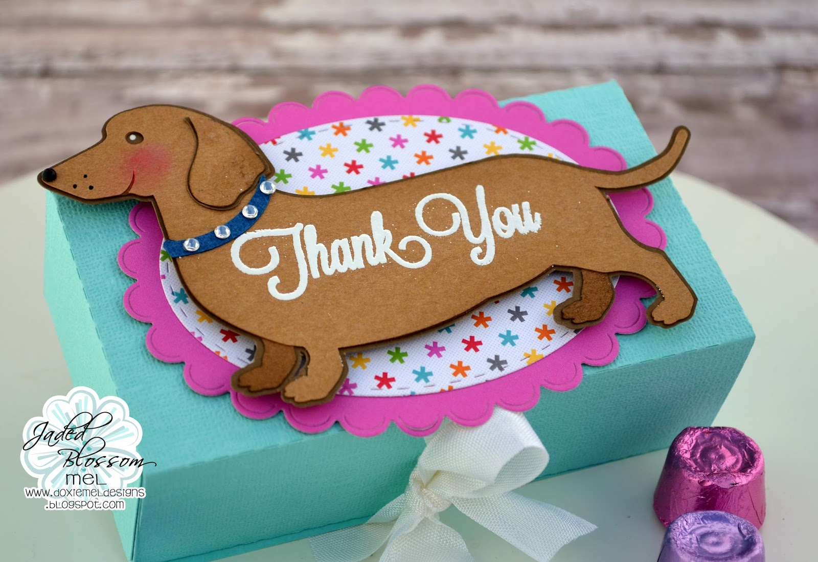 Doxie Mel Designs Sausage Dog Thank You