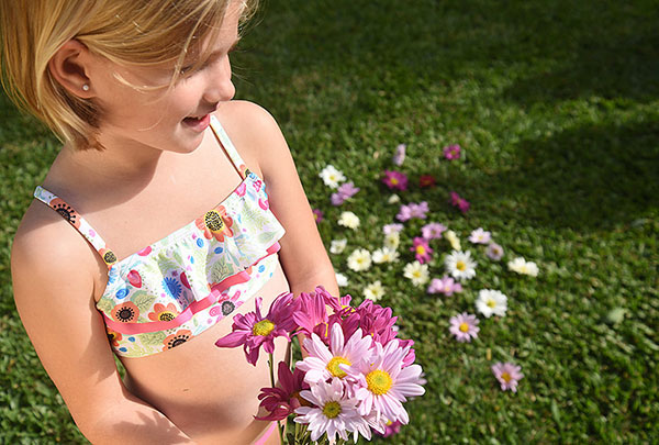 Moda verano 2018 bikinis para niñas.