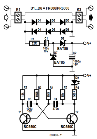 Indicator Consumption AC Load Circuit Diagram | Electronic ...