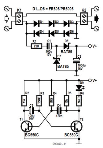 Indicator Consumption AC Load Wiring diagram Schematic