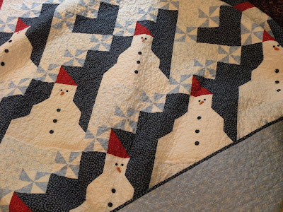 Quilt Inspiration: Free pattern day: Snowflake and snowman quilts : snowman quilt pattern - Adamdwight.com