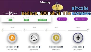 Bedava 100 Gh/s ile Bitcoin, Eth, $ kazanın