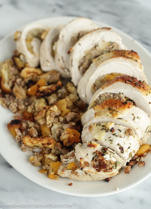 recipe for stuffed and rolled turkey breast