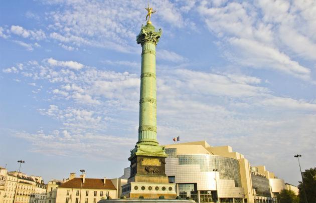 Coluna de Juillet no bairro Bastille