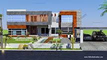 3d Front Beautiful 2 Kanal House Plan