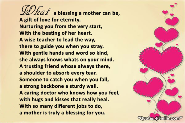 Mothers Day Poems for Teachers