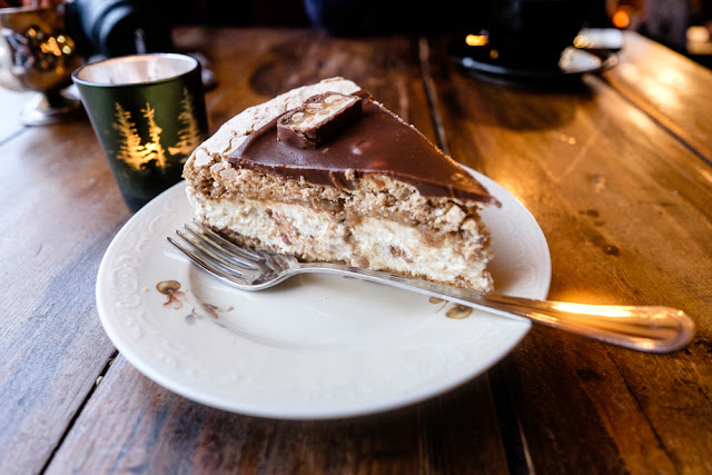 Delicious cake in a Reykjavik cafe - one of Iceland's famous desserts
