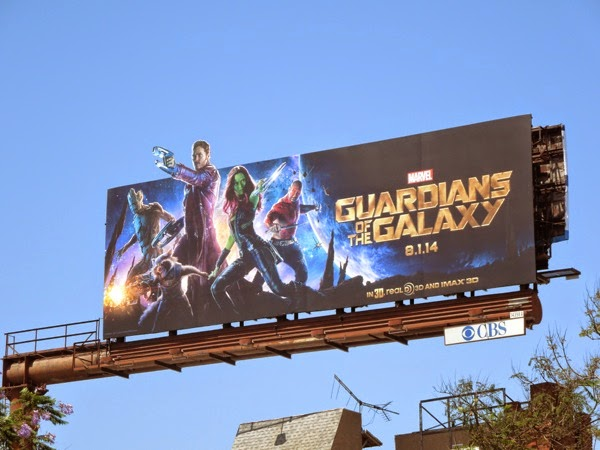 Guardians of the Galaxy film billboard