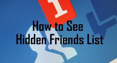 كيف تكشف عن قائمة الاصدقاء المخفية في الفيسبوك