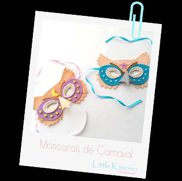 Máscaras De Carnaval Buhos Little Kimono Handmade