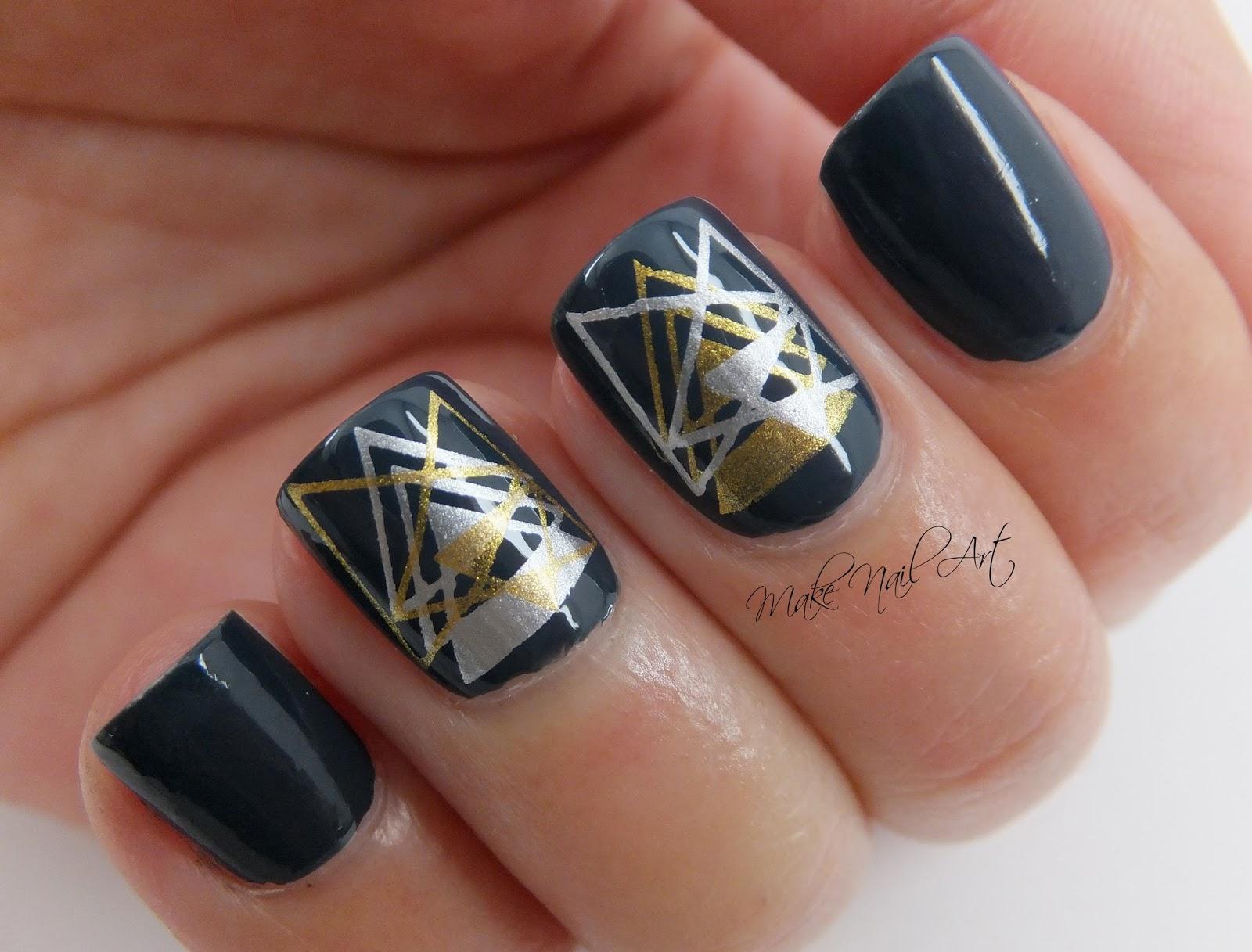 Make Nail Art Geometric Stamping Nails Nail Art Tutorial