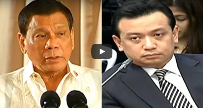 """LOOK: Duterte May Maanghang na Salita kay Trillanes """" Mahiya ka naman sa sarili mo!"""""""