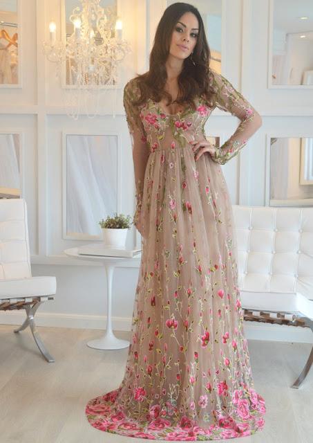 vestido patricia bonaldi floral