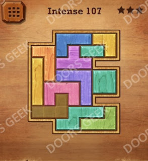 Cheats, Solutions, Walkthrough for Wood Block Puzzle Intense Level 107