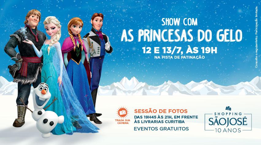 Patinação no gelo com Frozen - programação de férias em Curitiba - imagem divulgação