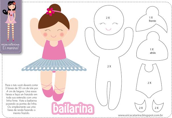 Шаблоны балеринок - толстушек из фетра (3)