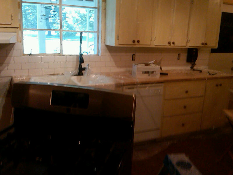 Our Old Quot Green Quot House Weekend Diy Backsplash Phase 1