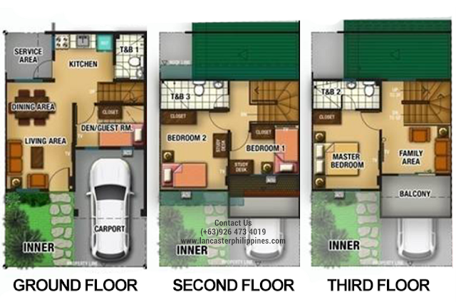 Floor Plan of Mabelle - Lancaster New City Cavite | House and Lot for Sale Imus-General Trias Cavite