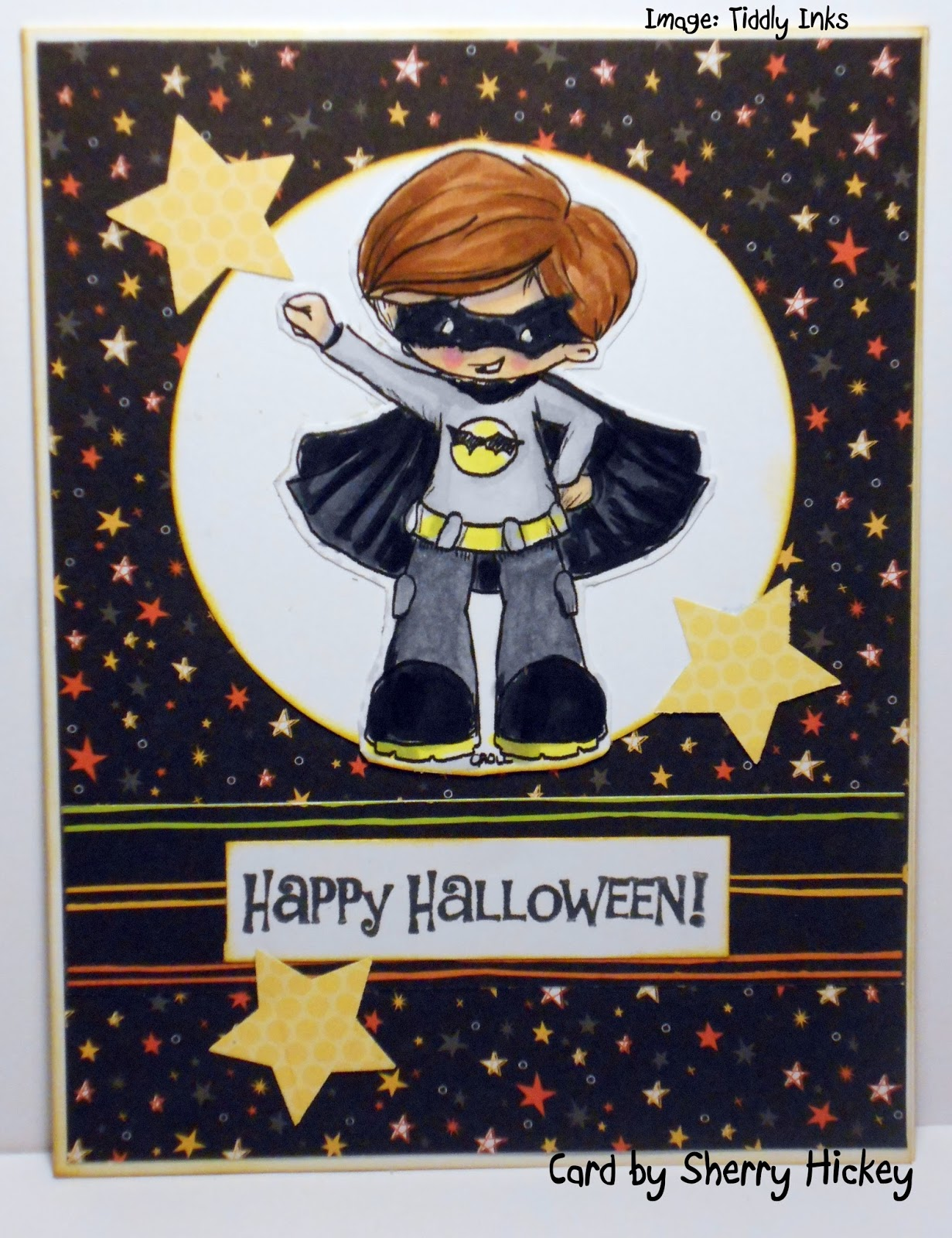 the new challenge at send a smile 4 kids is cute not scary halloween or autumn cards for kids i made two halloween cards with digis from tiddly inks i