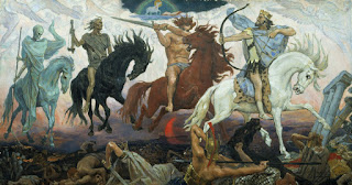 Viktor Vasnetsov's Four Horsemen of the Apocalypse, 1887.