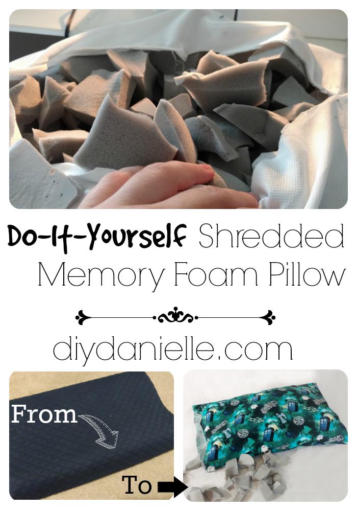 easy to make shredded memory foam pillow