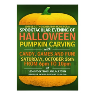 Halloween Pumpkin Carving Invite