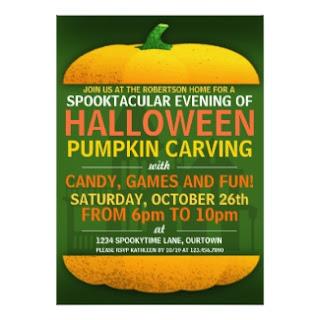 Halloween Pumpkin Carving Invite