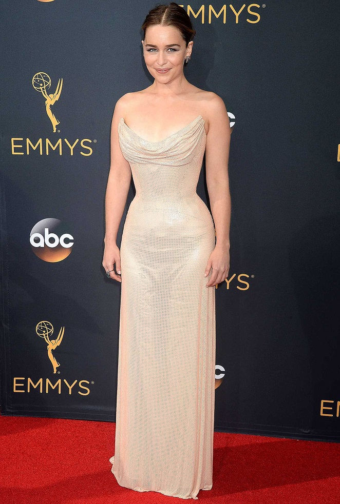 Emilia Clarke at 2016 Emmy Awards in LA