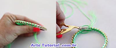 Como decorar pulseiras com pedra de strass