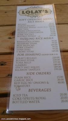 lolays bahay bulalo soft opening menu
