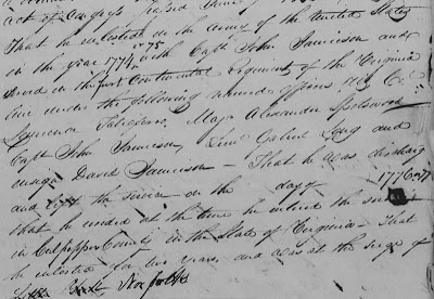 Richard Gaines service recorded in pension application 1832 https://jollettetc.blogspot.com