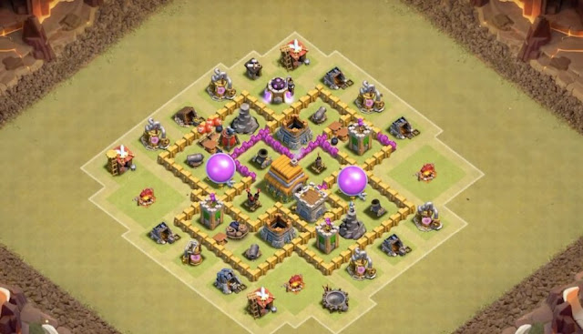 coc th6 war base 2018