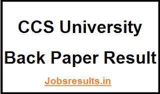 CCS University Back Paper Result
