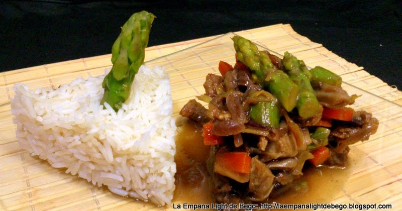 La empana light de bego salteado de ternera verduras y - Arroz con verduras light ...